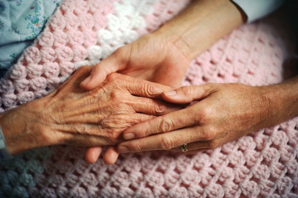 Holding Hands with Elderly Patient from Alex Schadenberg Blog
