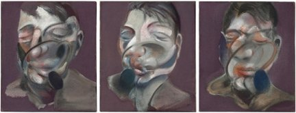 Francis Bacon, Tre studi per autoritratto (1976). Fonte: https://www.deluxeblog.it/post/13756/allasta-due-opere-di-francis-bacon-per-45-milioni-di-dollari