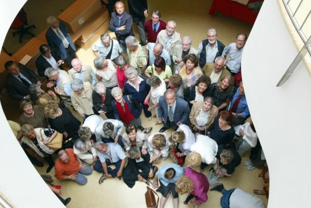 Volontari Vidas all'inaugurazione dell'hospice