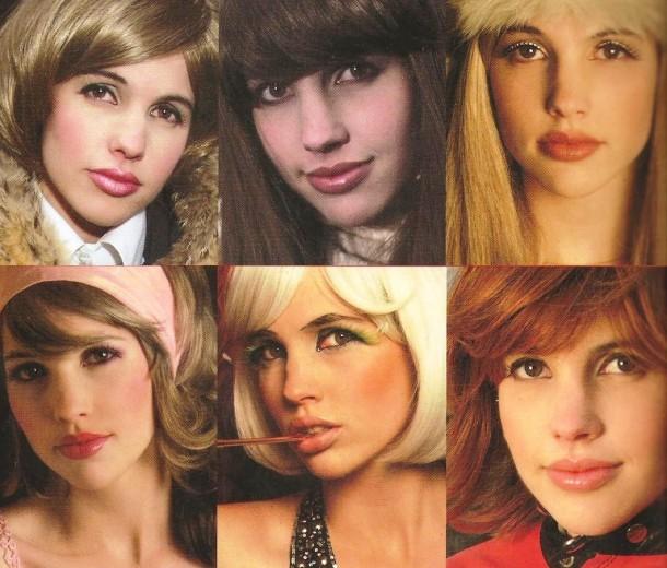 9 parrucche, il retro di copertina con alcune immagini di Sophie