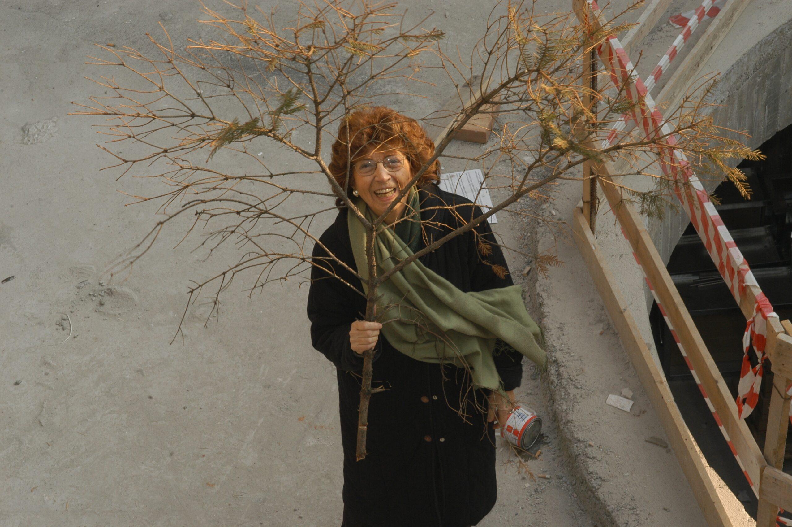 Giovanna Cavazzoni nel cantiere di Casa Vidas